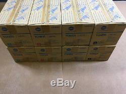 2 Sets Genuine Konica Minolta TN711 CMYK Toner for Bizhub C654 C654e C754 C754e