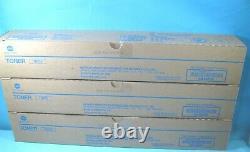 3 Genuine Konica Minolta Black Toner Tn326 Aaj6030 Free Shipping