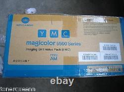 3 Genuine Konica Minolta Color Imaging DRUM Unit 4600 4650 4690 5500 5600 5650