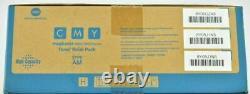 3 Genuine Konica Minolta Magicolor 5550 5570 5650 High Yield Toner CMY A06VJ33