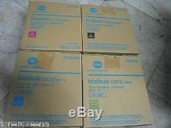 4 Genuine Konica Minolta Bizhub C35 C35P Toner TNP22K TNP22Y TNP22M TNP22C