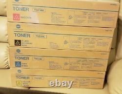 4 Genuine Konica Minolta TN314K TN314C TN314M TN314Y BCMY Toner Cartridges OEM