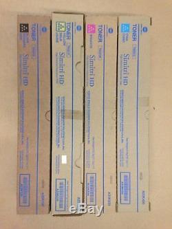4 Genuine Konica Minolta bizhub C224 C284 C364 Toner Cartridges TN-321 TN321K