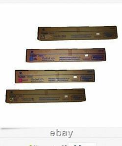 4 Genuine Konica Minolta bizhub C454 C554 Color Copier Printer Toner TN512K