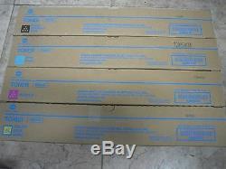 4 Genuine Konica Minolta bizhub C458 C558 C658 Color Copier Printer TN514 Toner
