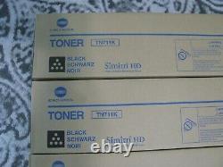 4 Genuine Konica Tn711k Black Toner Cartridge A3vu130 Sealed Free Shipping