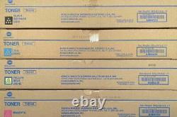 4 x GENUINE KONICA Bizhub C458 C558 C658 color Toner TN514c TN-514C TN-514Y