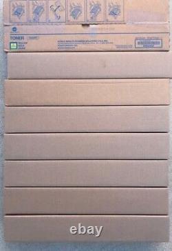 (9) Genuine Konica Minolta Cyan Magenta Yellow Black Toner TN324 C368 C308 C258