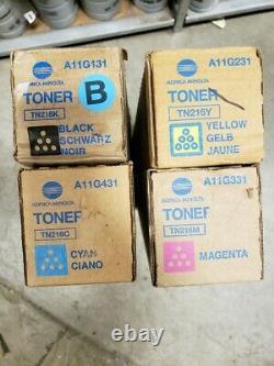 A11G131/231/331/431-Genuine Konica Minolta TN216 Toners, 4 Color Set (CYMK)