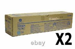 A1U9433 TN616C Genuine Konica Minolta Lot Of 2 Cyan High Yield Press C6000 C7000