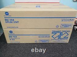 A2vg0y0 Genuine Konica Minolta Drum Unit Du-104 Lot Of 4pcs