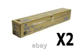 A33K132 TN512K Lot of 2 Genuine Konica Minolta Black Toner for C554 C454