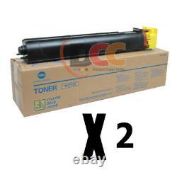 A3VU230 TN711Y Genuine Konica Minolta Yellow Toner For C654 C754 Lot Of 2