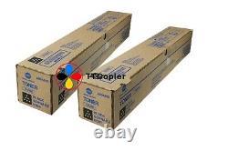 A8DA130 TN-324K Genuine Konica Minolta Lot of 2 Toner Black For C258 C308 C368
