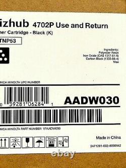 AADW030-Genuine Konica Minolta Black Toner Cartridge, OEM