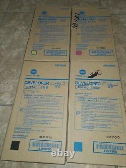 DV614 CMYK Genuine Konica Minolta SET, Developer For Bizhub Press C1060 C1070