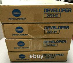 DV614 CMYK Genuine Konica Minolta SET, Developer For Press C1060
