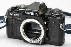 FedEx MINT Minolta X-500 Black body + MD 35-70mm f3.5 Macro + Genuine Strap