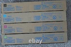 Four NEW Genuine Konica Minolta TN514K TN514C TN514M TN514Y Toner Cartridges Set