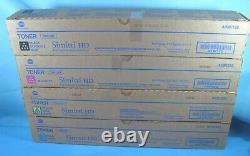 Full Set Of Genuine Konica Minota Tn512 A33k132 A33k232 A33k332 A33k432 New