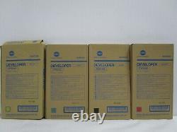 GENUINE KONICA MINOLTA DV610 SET Developer C6000 C7000 C6500 C6501 NEW SEE PHOTO