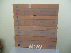 Genuine Konica BizHub Pro C6501, C5501 TN612 Color Toner Set KYMC New