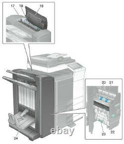 Genuine Konica FS534BK A3EPWY1 Booklet Maker Finisher