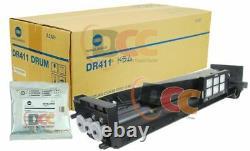 Genuine Konica Minolta A1UDR71111 Developing Unit DV411 Developer DR411 Drum Set