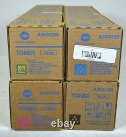 Genuine Konica Minolta Bizhub TN619 Full Copier Toner Set of 4 CMYK NEW