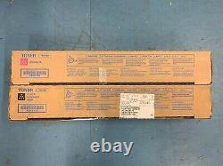 Genuine Konica Minolta Bizhub TN619 Toner x2 TN619K TN619M OEM C2070 C1060 C3080