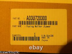 Genuine Konica Minolta Lower Fusing Roller A03U720300 Bizhub C6000 C7000 C5500