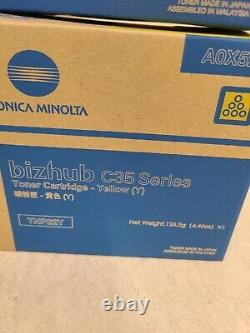 Genuine Konica Minolta Set C35 TNP22K TNP22M TNP22C TNP22Y Toner Cartridges