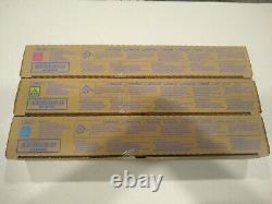 Genuine Konica Minolta TN-321 CMY Color Toner Set