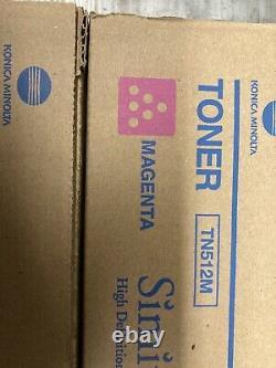 Genuine Konica Minolta TN 512 Full Toner Set of 4 CMYK Bizhub OEM BRAND NEW