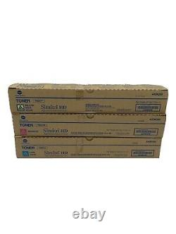 Genuine Konica Minolta TN321 Color Toner Set of 3 CMY TN-321 New With Open Box