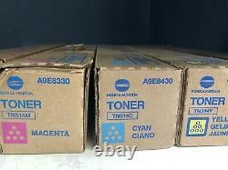 Genuine Konica-Minolta TN514 Toner CYAN/MAGENTA/YELLOW 1 of each