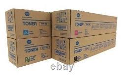 Genuine Konica Minolta TN615 Full Toner Set of 4 CMYK Bizhub OEM BRAND NEW
