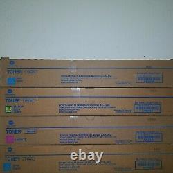 Genuine Konica Minolta TN619C TN619Y TN619M TN619K CYMK TONER SET C1060 C1070