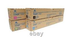Genuine Konica Minolta TN626 Full Toner Set of 4 CMYK Bizhub OEM BRAND NEW