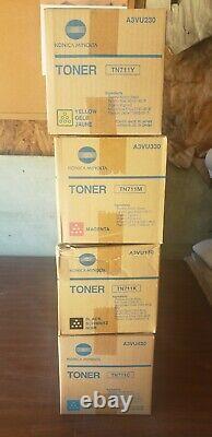 Genuine Konica Minolta TN711 Full CMYK Toner Set New in Sealed Boxes