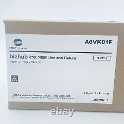 Genuine Konica Minolta TNP44 Toner Cartridge A6VK01F Bizhub 4750/4050 Black NEW