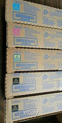 Genuine Konica Minolta Tn512 A33k132-a33k432 Toner Set Bizhub C454 C554
