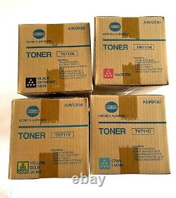 Genuine Konica Minolta Toner Cartridge Set TN711 CMYK (Set)