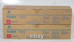 Genuine Konica Minolta Toner Lot 4 TN213C Cyan+2 TN213M Magenta+2 TN213Y Yellow