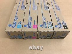 Genuine Konica TN-514 CMYK Toner Set for bizhub C458 C558 C658 FedEx 2 Day