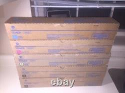 Genuine Konica TN514 Toner Set Cyan Magenta Yellow + 2 Black C458 C558 C658