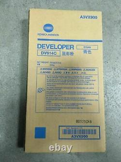 Genuine OEM Konica A3VX900 Cyan Developer (DV-614C) C1060L (1,200K Yield)