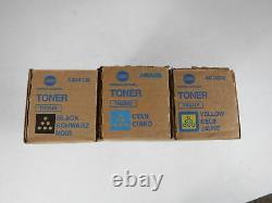Genuine Set of 3 KONICA MINOLTA Bizhub TN324C TN324Y TN324K OEM Sealed