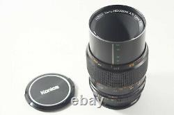 Konica Macro Hexanon AR 55mm f3.5 Lens + 11 Adapter + genuine caps and pouch