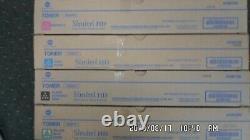 LOT of 4 Genuine Konica Minolta TN321K, Y, M & C A33K130,230,330 & A33430
